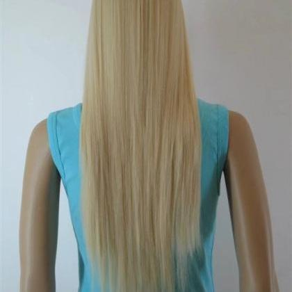 pale long women wigs synthetic wig ..