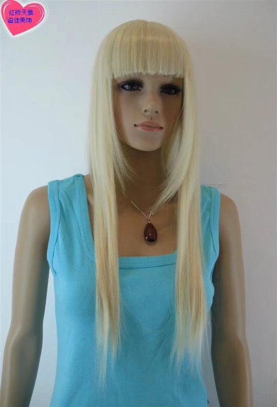 pale long women wigs synthetic wig GZ#0120105 ashioin girls clothing abc