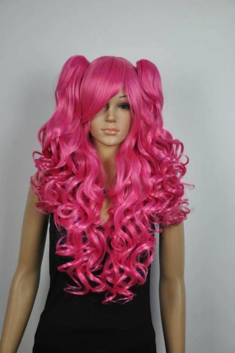 rose red women wig