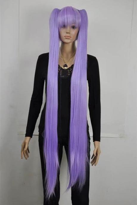 purple women wig