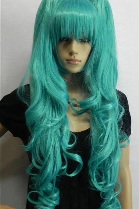 green wig long women wig cosplay wig long wigs newly 2017