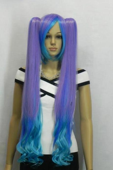 Wig Long Wig purple Synthetic Wig Women's Wig Cosplay