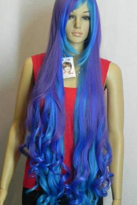 Wig Long wave Wig purple Synthetic Wig Women's Wig Cosplay