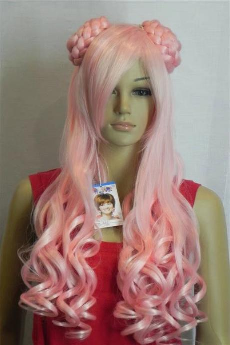 Long Wig pink Cosplay wigs