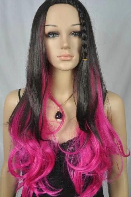 black rose long Wig wigs women wigs synthetic wig