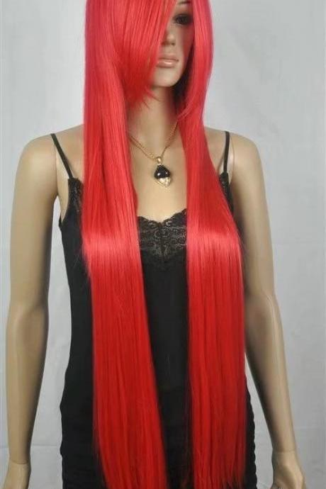 red cosplay long women wigs synthetic wig GZ#006