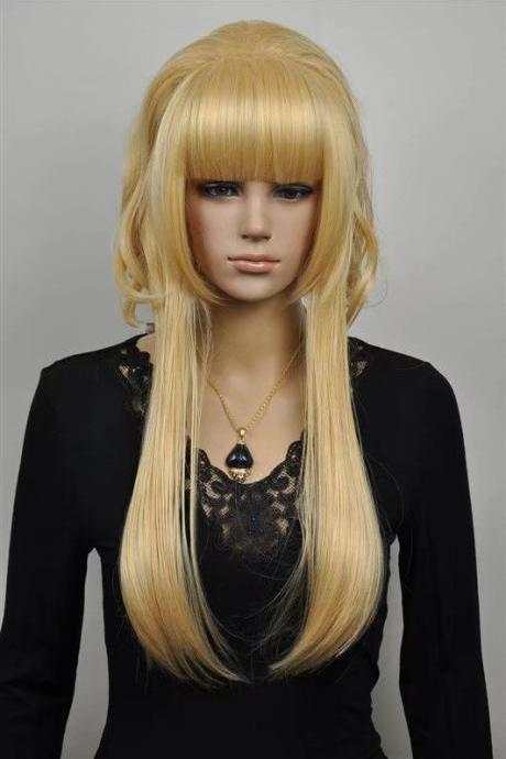 gold women wigs synthetic wig christmas gift 2017 abc