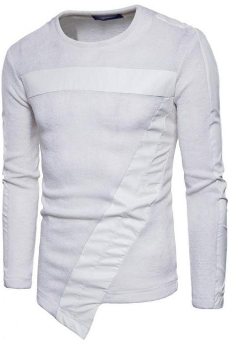 New winter men's casual fashion HoodIES Sweater WHITE