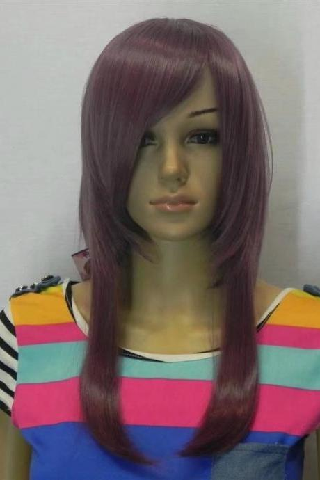 NEW PURPLE women short wig/wigs hair wigs