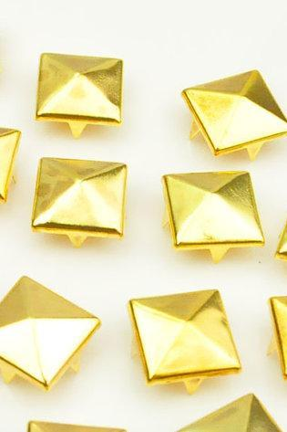 10mm Gold Pyramid Bead 4 Claw Rivet DIY Stud Bead Accessories 100pcs