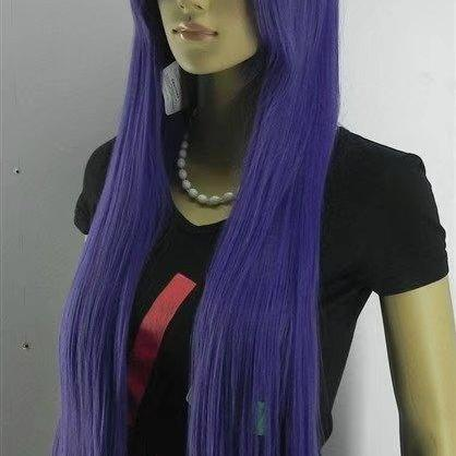 purple long women wigs synthetic wig GZ#015 ashioin girls clothing abc