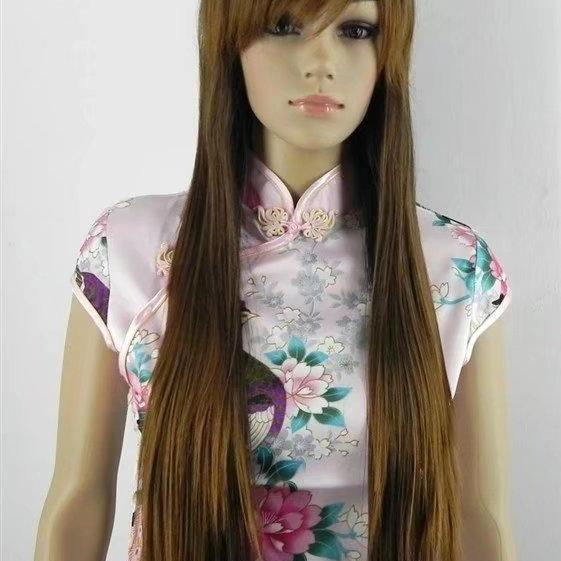brown long women wigs synthetic wig GZ#012005 ashioin girls clothing abc